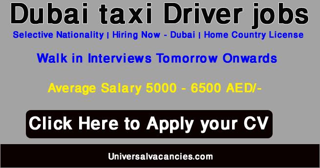 Dubai Taxi jobs 2021